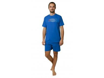 Pánské pyžamo s kraťasy CALVI 19-088 - modré