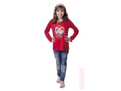 Dívčí triko CALVI - 16-407 - červené