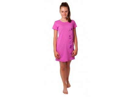 Dívčí noční košile CALVI 20-322 - růžová