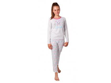 Dívčí pyžamo CALVI 20-324 - šedé