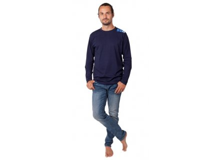 Pánské triko CALVI 20-306 - tm. modré