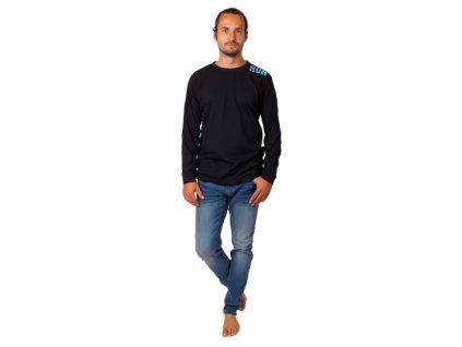 Pánské triko CALVI 20-306 - černé