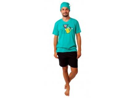 Pánské pyžamo CALVI 20-375 - petrolejové