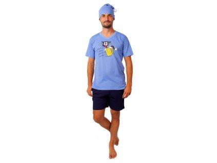 Pánské pyžamo CALVI 20-375 - sv. modré