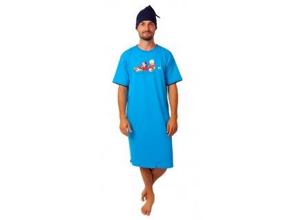 Pánská noční košile CALVI - 20-360 - modrá