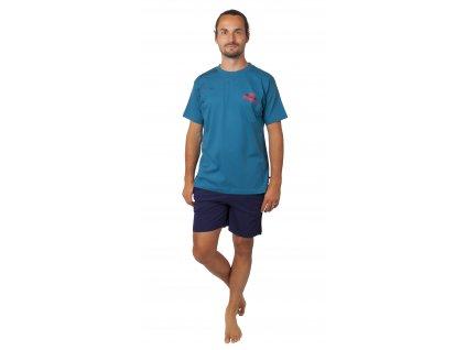 Pánské pyžamo CALVI 20-370 - petrolejové