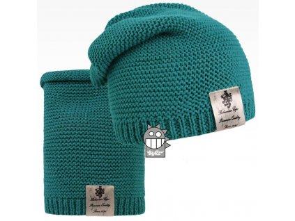pletená čepice+nákrčník 16 LI