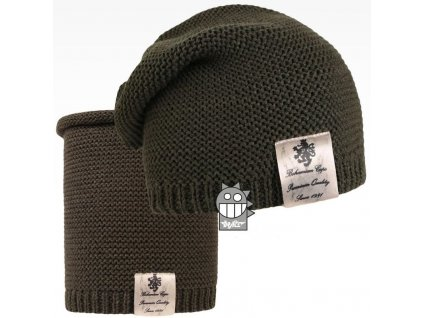 pletená čepice+nákrčník 20 LI