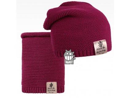 pletená čepice+nákrčník 06 LI