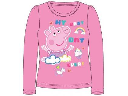 Dívčí triko PEPPA PIG 5202705 - tmavší růžová