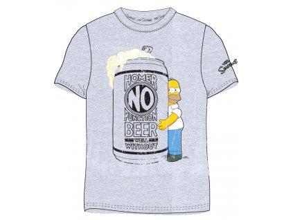 Pánské triko Homer Simpson 899412 - šedý melír