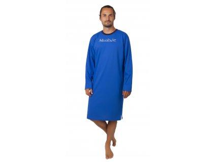 Pánská noční košile CALVI 20-362 - středně modrá