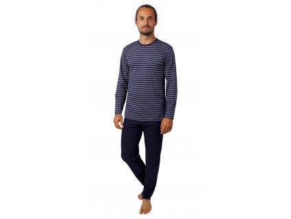 Pánské pyžamo CALVI 20-385 - tm. modré