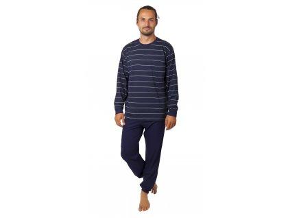 Pánské pyžamo CALVI 20-389 - tm. modré