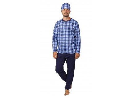 Pánské pyžamo CALVI 20-378 - modré