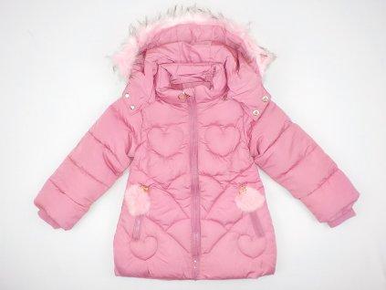 Dívčí bunda-kabát SEZON 832 - růžová (Velikost 5let)