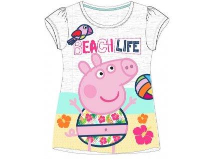 Dětské triko PEPPA PIG 5202632 - krátký rukáv, šedý melír