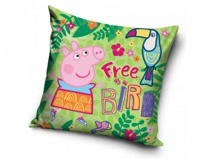 Dětský polštářek 411898 - PEPPA PIG, zelená