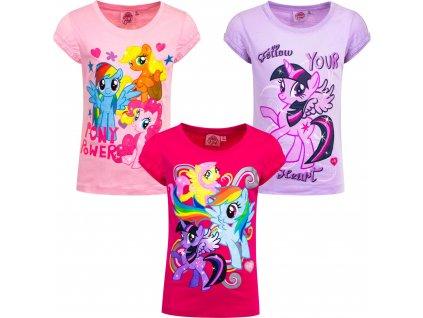 Dívčí triko MY LITTLE PONY 97358 - sv. růžová