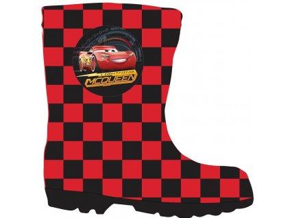 Dětské holínky CARS 52556154 - červená/černá