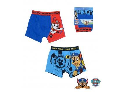 Chlapecké boxerky 2pack TLAPKOVÁ PATROLA 33788 - modrá/červená