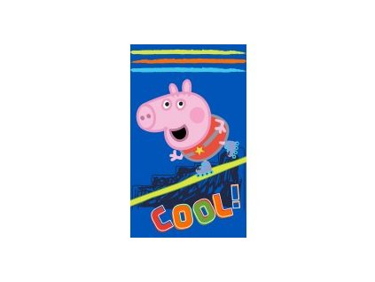 Dětský ručník PEPPA PIG 411737 - modrý