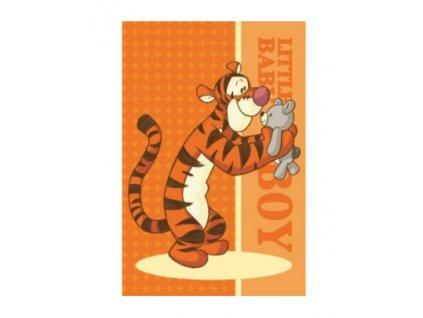 Dětský ručník Tygr 26437 - oranžový