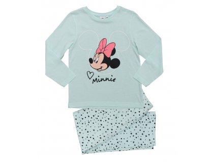 Dívčí pyžamo MINNIE 35170 - světlý tyrkys, puntík