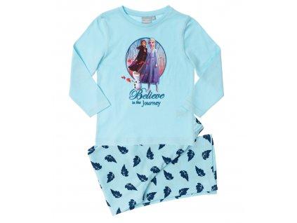 Dívčí pyžamo FROZEN 35168 - světlý tyrkys