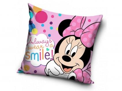 Dětský polštářek MINNIE always smile 461019 - růžový