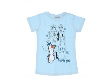 Dívčí triko FROZEN 35673 - ledově modrá