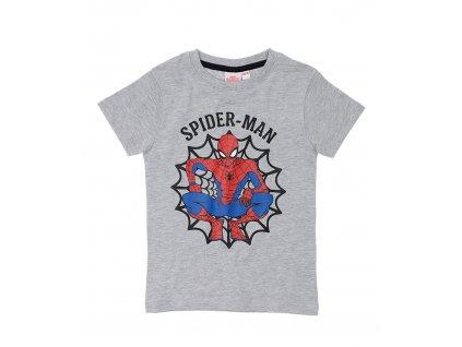 Chlapecké triko SPIDERMAN 35686 - šedý melír