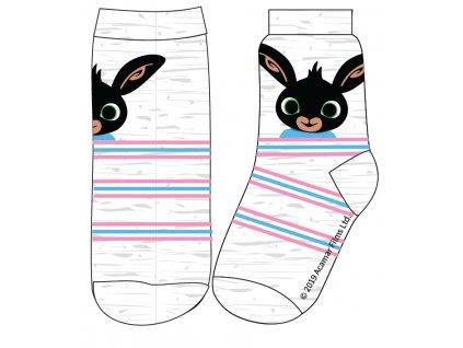 Dětské ponožky ZAJÍČEK BING 5234004 - sv. šedý melír, proužky