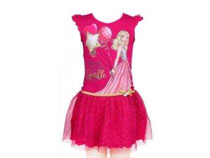 Dívčí šaty BARBIE 640049 - růžové