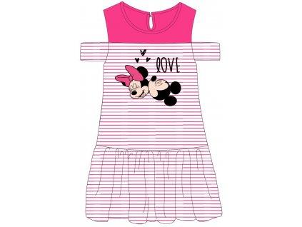 Dívčí šaty MINNIE 52239278 - malinový pruh