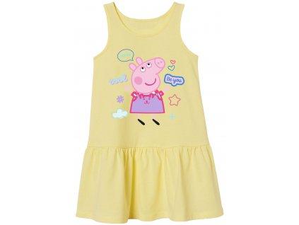 Dívčí šaty PEPPA PIG 5223751 - vanilkové