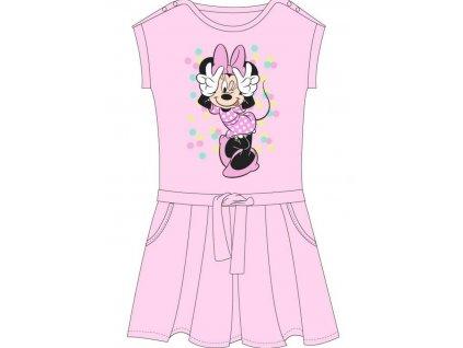 Dívčí šaty MINNIE 52239277 - bublinky, sv. růžové