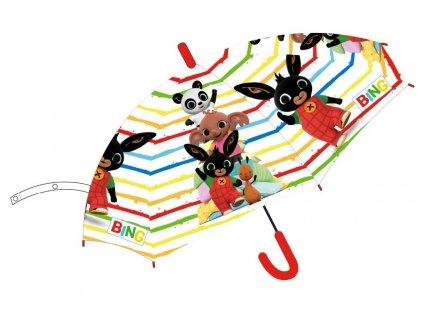 Dětský deštník ZAJÍČEK BING 5250069 - barevný, transparentní
