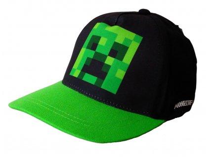 Chlapecká kšiltovka MINECRAFT 40331 - zelená/černá