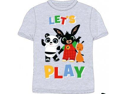 Dětské triko ZAJÍČEK BING 5202053 - šedý melír