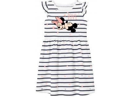 Dívčí šaty MINNIE a MICKEY 52238491 - proužek, bílá/černá