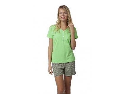 Dámské pyžamo s kraťasy CALVI 18-198 - zelené