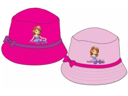Dívčí plátěný klobouk SOFIE 770717 - sv. růžový