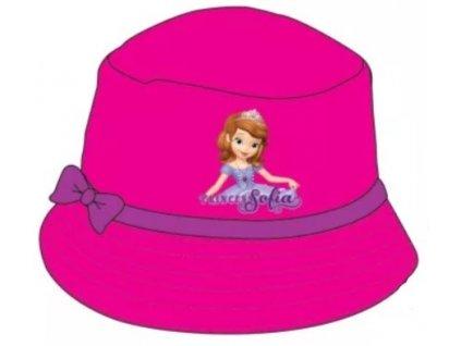 Dívčí plátěný klobouk SOFIE 770717 - tm. růžový