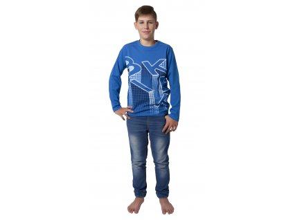Chlapecké triko CALVI 18-301 - světlejší modrá