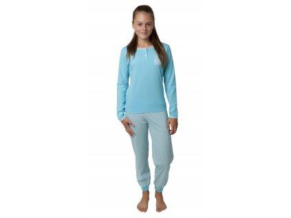 Dívčí pyžamo CALVI 19-479 - tyrkys