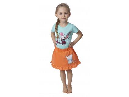 Dívčí sukýnka CALVI 17-250 - světlejší oranžová