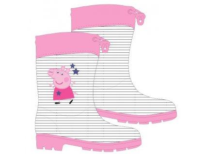 Dívčí holínky PEPPA PIG 5255772 - bílá/černá/růžová