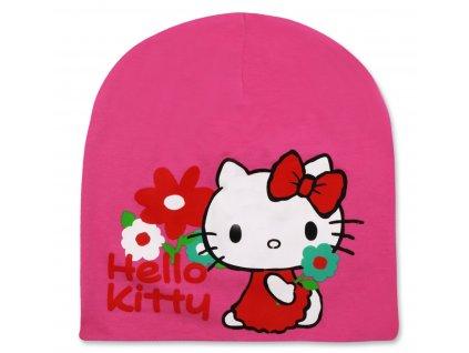 Dívčí bavlněná čepice HELLO KITTY 771-855 - tmavší růžová