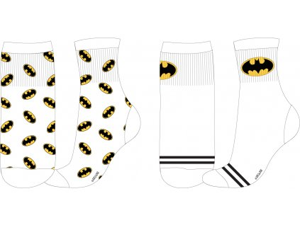 Dětské ponožky BATMAN 2PACK 5234280 - bílé